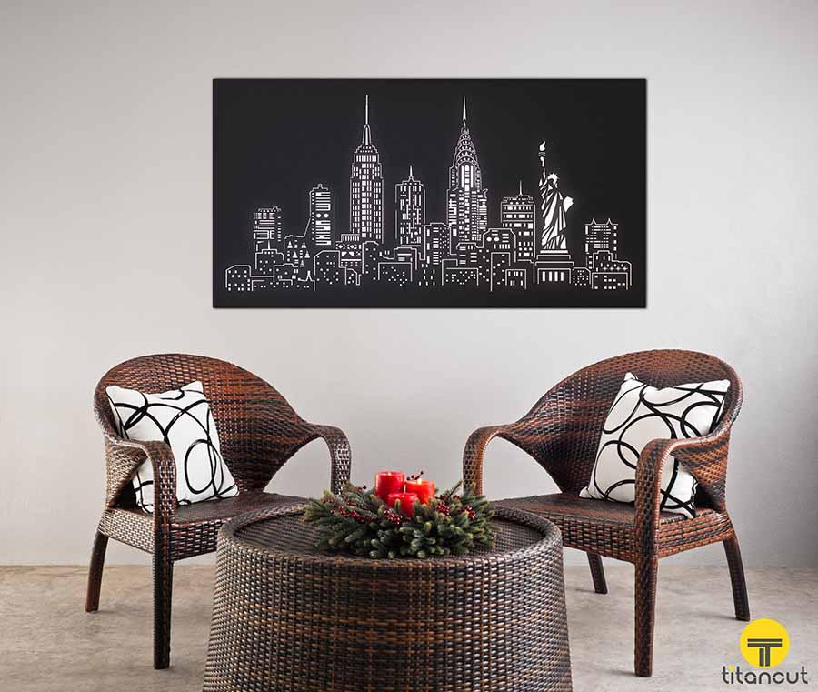 New York Laser Cut Panel