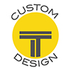 Round Titan Cut logo, circled with Custom design
