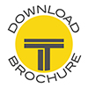 Round Titan Cut logo, circled with Download brochure