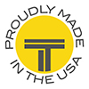 Round Titan Cut logo, circled with Proudly made in the USA