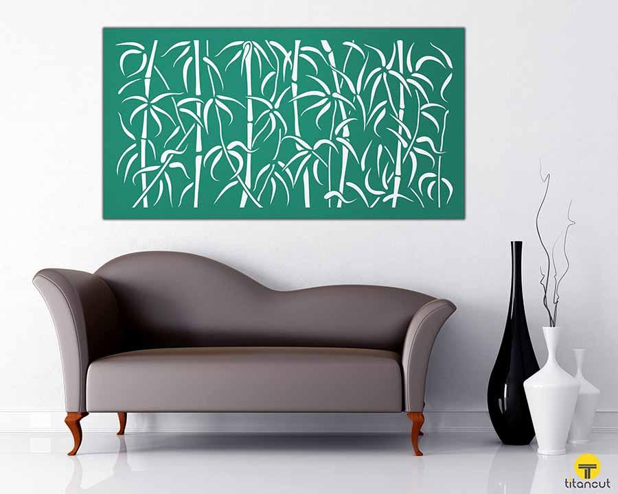 Bamboo Pattern Panel