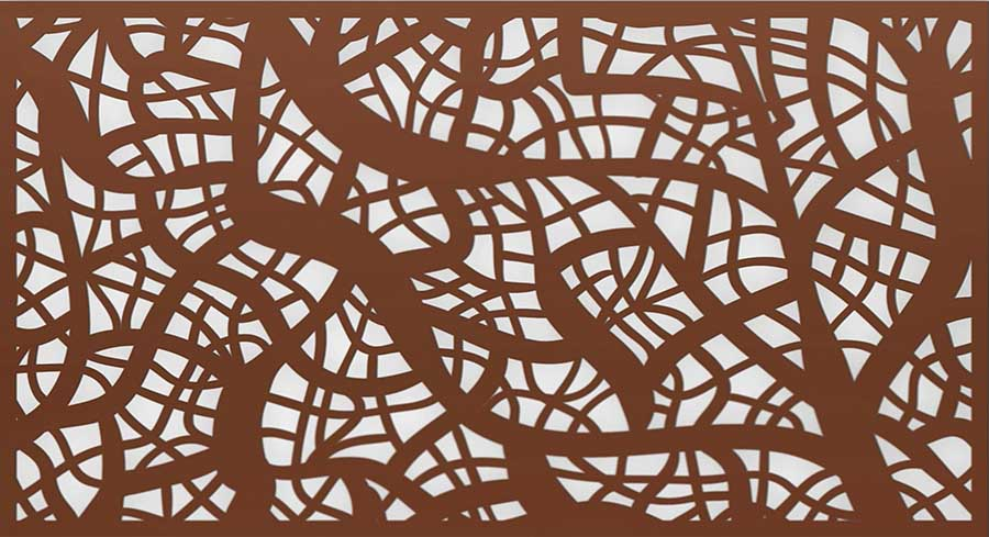 laser-cut screen patterns  colors and finishes