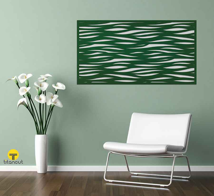Laser cut screen patterns colors and finishes gallery for Creative wall decor