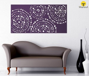 Metal Laser Cut Wall Panel Screen Creative Rocks